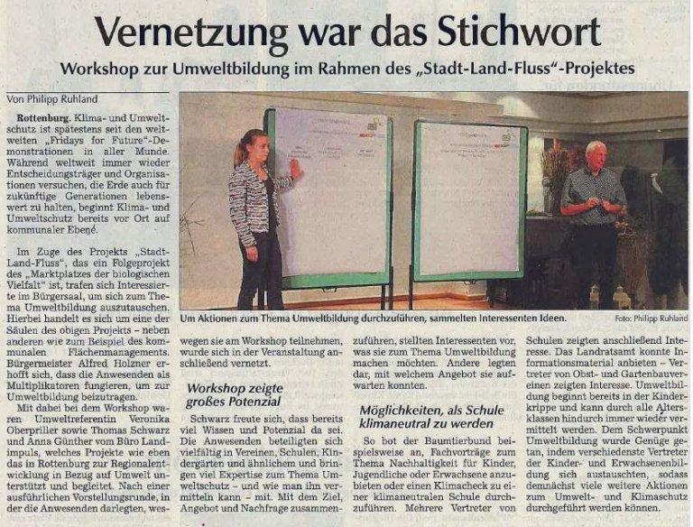 Zeitungsartikel Workshop